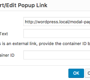 WP Post Popup Insert Functionality