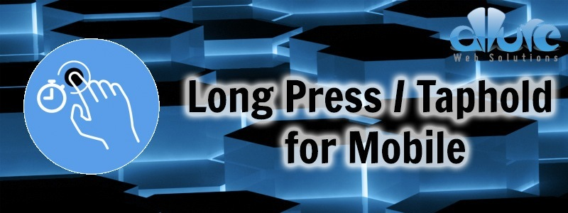 jQuery Finger Long Press Mobile