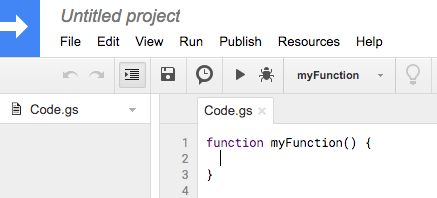 Empty Google Script